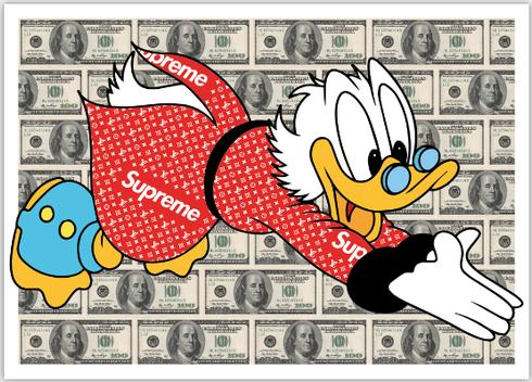 Money Dive | Gomor | 50x70cm