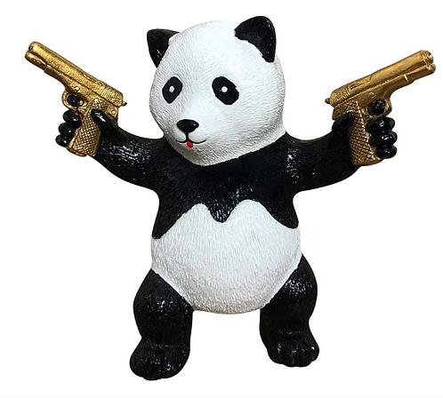 PEACE PANDA - gold gun