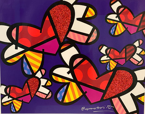LOVE IS IN THE AIR TOO - by Romero Britto