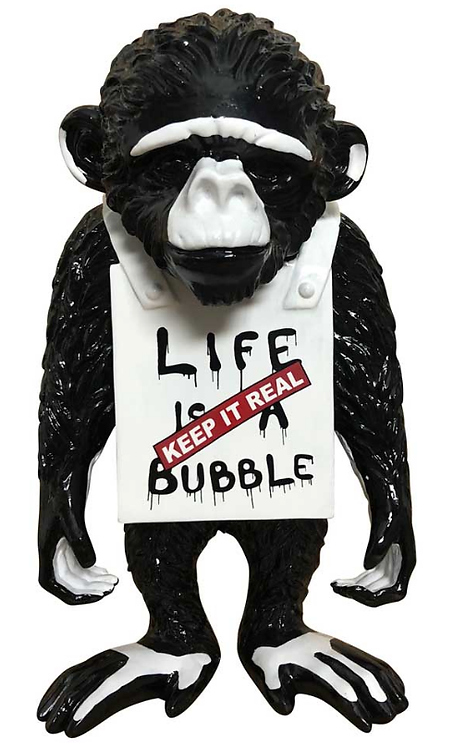 LIFE IS A BUBBLE - the street monkey