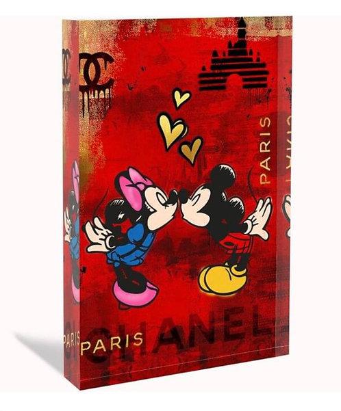 LOVE PARIS - Glas-Acryl-Block - limited  - by Devin Miles
