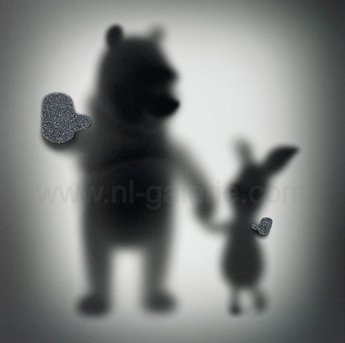 GONE WINNIE PUUH THE BEAR & THE PIG *diamonds dust edition*  - by whatshisname