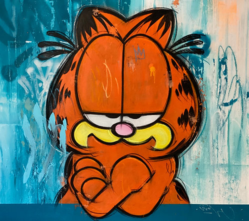 "GARFIELD ""MAYBE YES"" - Mr. Oreke - original / unikat"