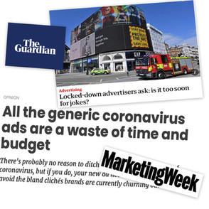 Coronavirus Crisis. Should advertising carry on as normal... Or not?
