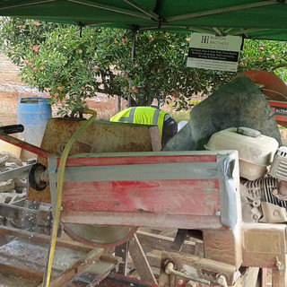 Cutting and dressing Bargate stone