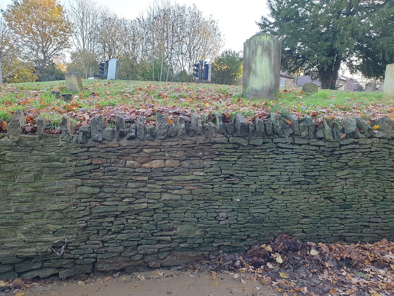 Dry stone wall repair