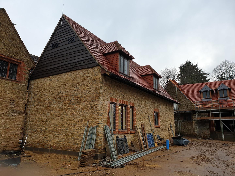 Reclaimed Bargate stone, new build