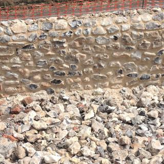 New flint wall