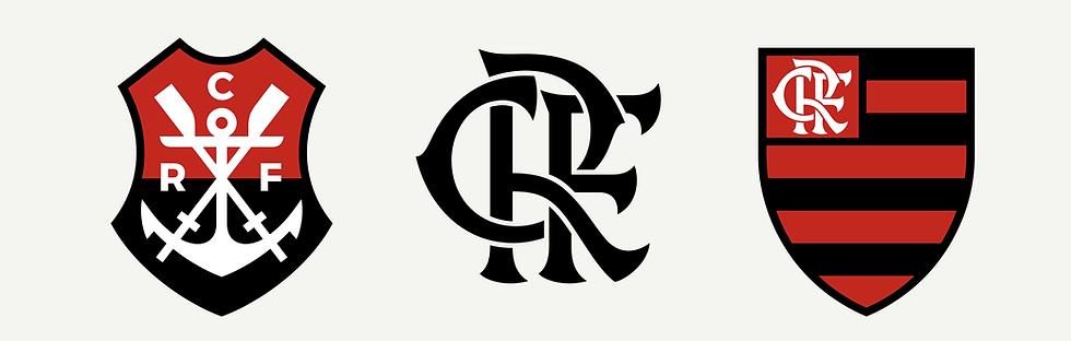 Conjunto Escudo e Monograma Modernizados Flamengo