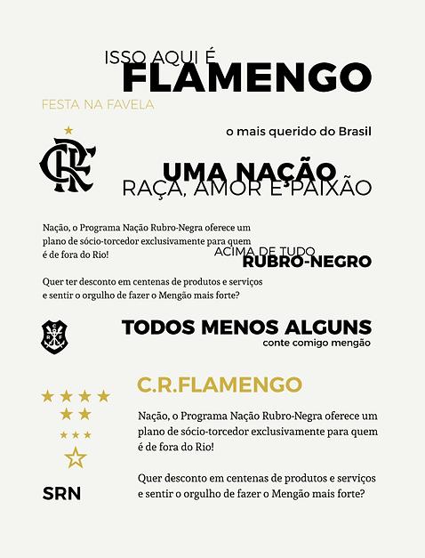 Estudo tipogáfico Flamengo