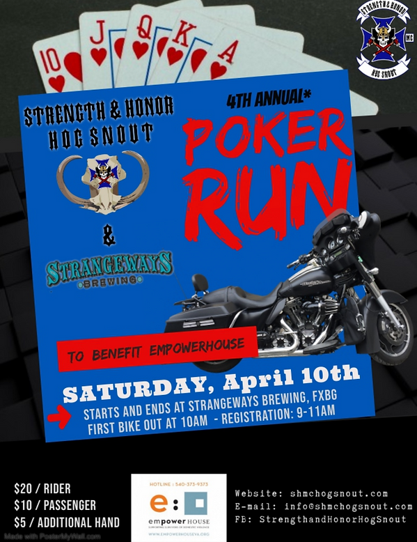 HS Poker Run Flyer