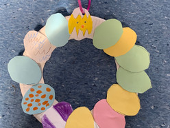 Art in Sixth Class - Easter Wreaths