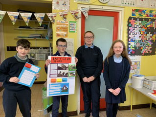 5th class worked hard creating and presenting their World War 1 projects