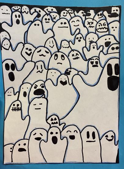 Sixth Class - Halloween Ghosts