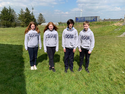 Sixth Class are delighted with their new hoodies!