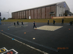 And loads in the basketball court!