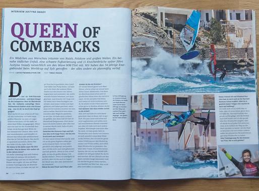 """Queen of Comebacks"" Surf Magazin"