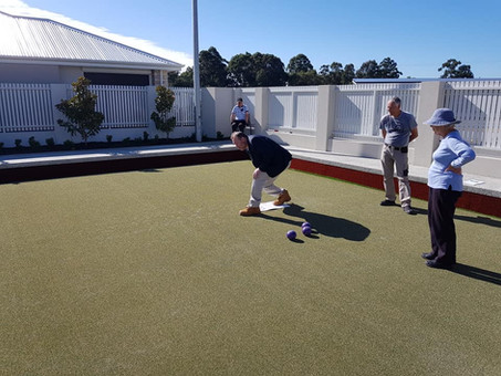 The Green....   What a stunning day for Lawn Bowls