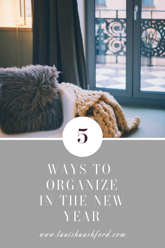 5 Ways to Organize in the New Year
