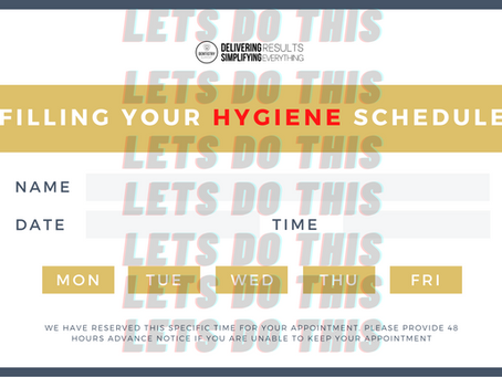 Fill Your Hygiene Schedule