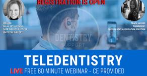 FREE Teledentistry Webinar, CE Provided