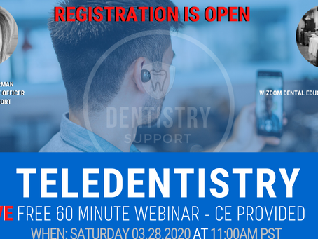 FREE Teledentistry Webinar, CE Provided