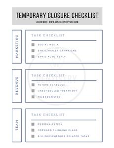 Dental Office Checklist
