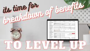 Breakdown of Benefits