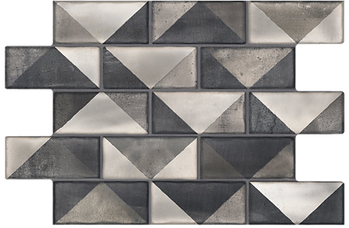 Siena Preto 13x20 feature wall tile shiny black and cream and grey Pamesa Brazil Keystone Products Barbados