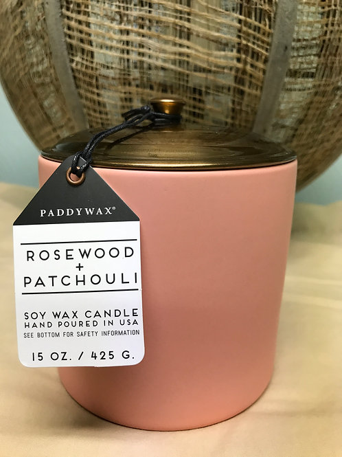 Rosewood and Patchouli 15 oz  $30.00