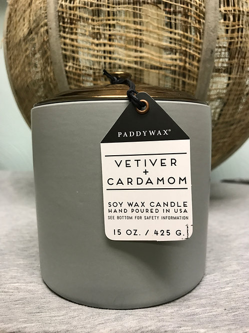 Vetiver and Cardamon 15 oz $30.00