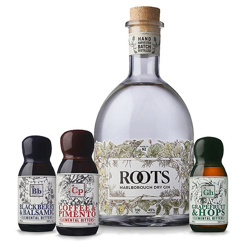 Roots Marlborough Dry Gin and a Bitters of your Choice