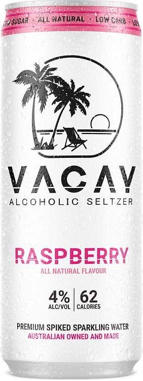 Vacay Seltzer Raspberry 16x330ml Case
