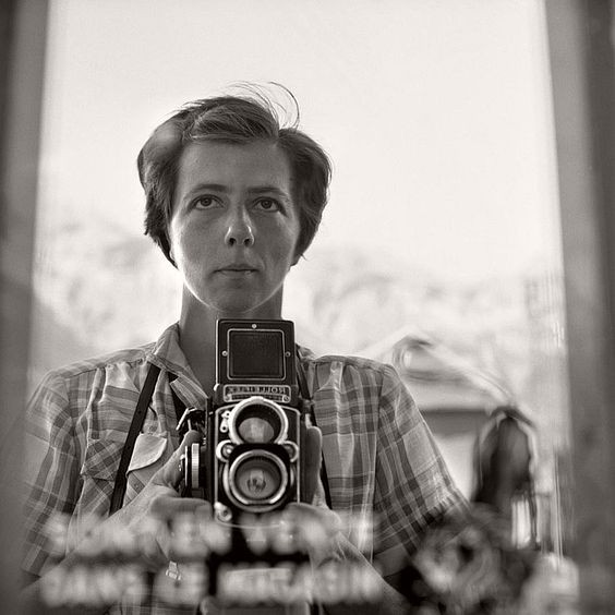 Vivian Maier self portrait with a Rolleiflex