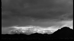 Looming storm at dusk in Tucson