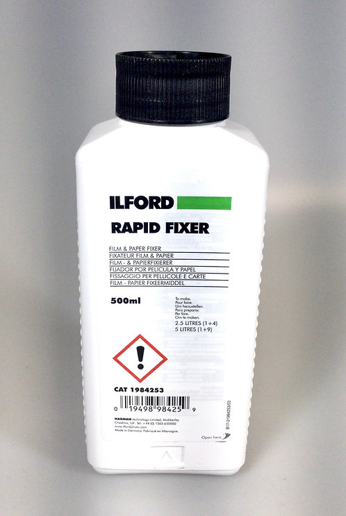 New, unopened bottle of Ilford Rapid Fixer