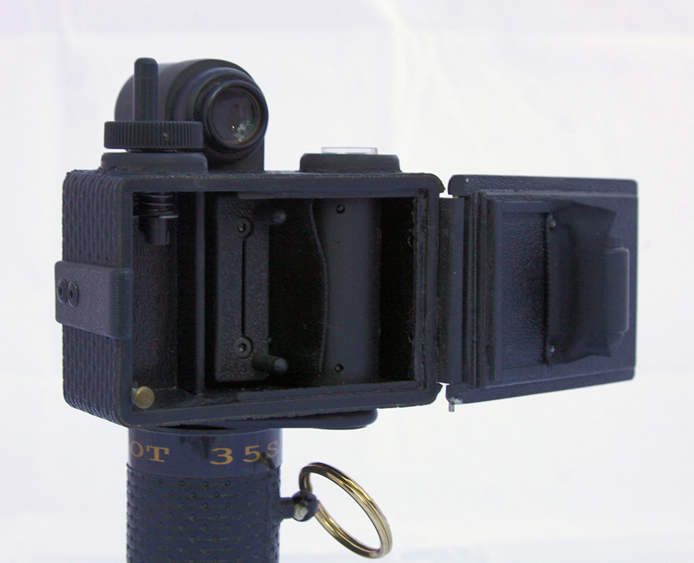 SpinShot 35s panoramic camera - back open view