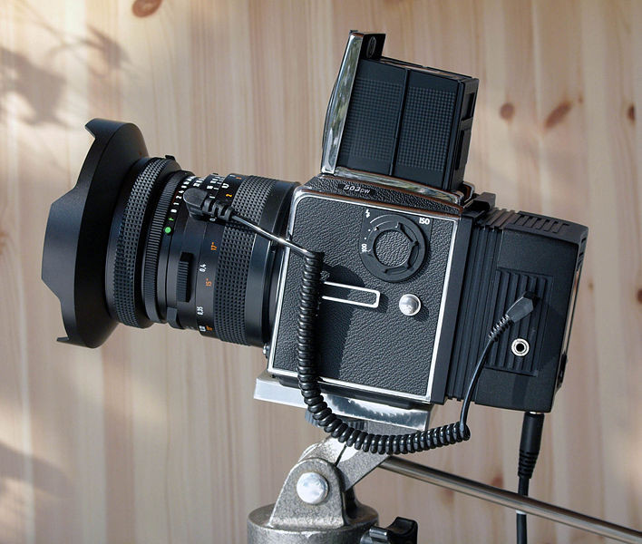 Hasselblad 500 with digital back