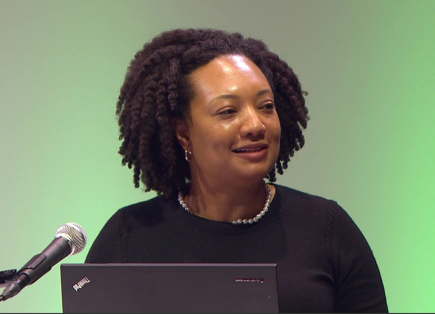 Ari Wilkins presenting at Rootstech on preserving photographs