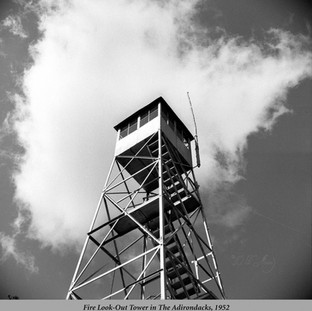 Fire Look-Out Tower in The Adirondacks, 1952