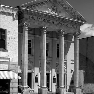 """The Old """"Farmers Bank"""", Loudonville, Ohio  August 1972"""