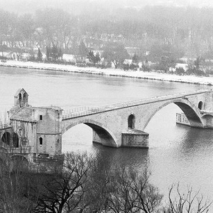 Pont D'Avignon with Snow