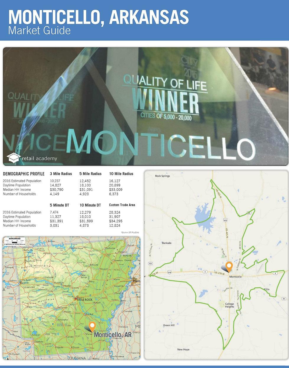 Monticello, Arkansas Market Guide