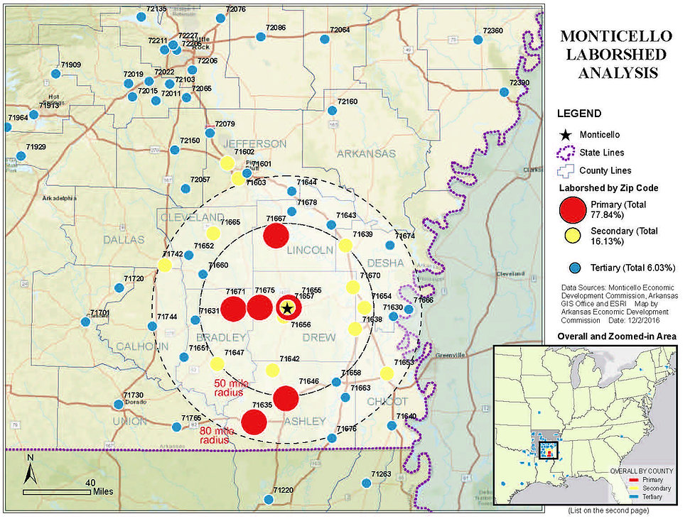 Drew County Arkansas Laborshed
