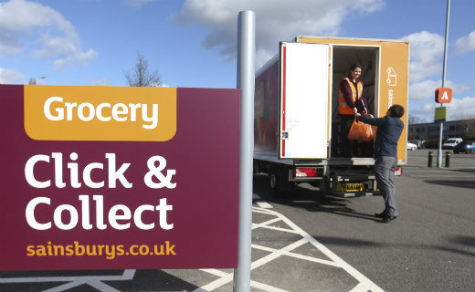 Delivery from Sainsbury's online fulfilled by an omnichannel store
