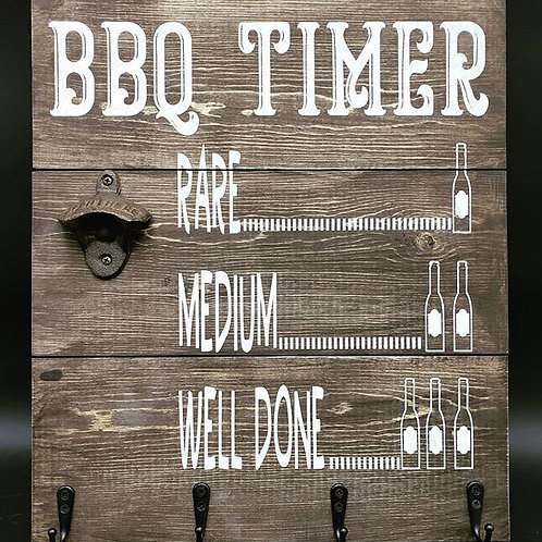 BBQ Timer, Bottle Opener, Utensil Hanger