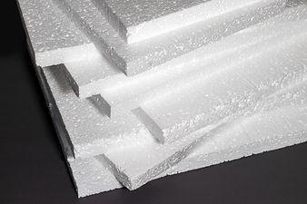 Styrofoam. Sheets of Factory manufacturi