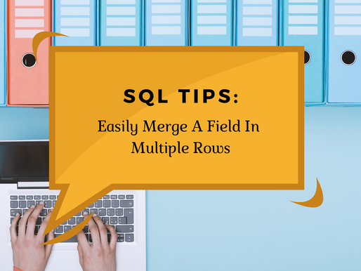 SQL Tip - Easily merge a field in multiple rows