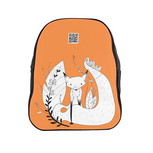 Cute Fox School Backpack - Orange