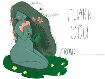 Thank you card Nymph